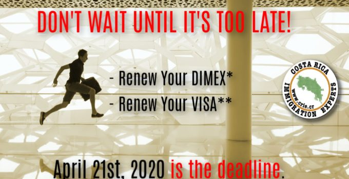 2020 Expired DIMEX And Overstayed Tourist Visa Late Fees