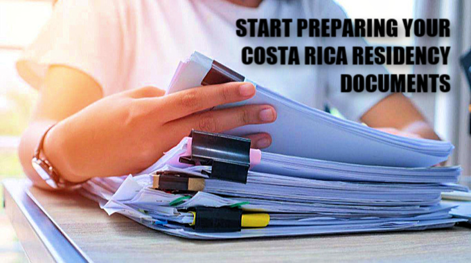 start preparing your costa rica residency documents
